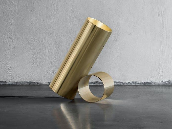 Flos Sawaru Table Floor Lamp gold 2 Nendo