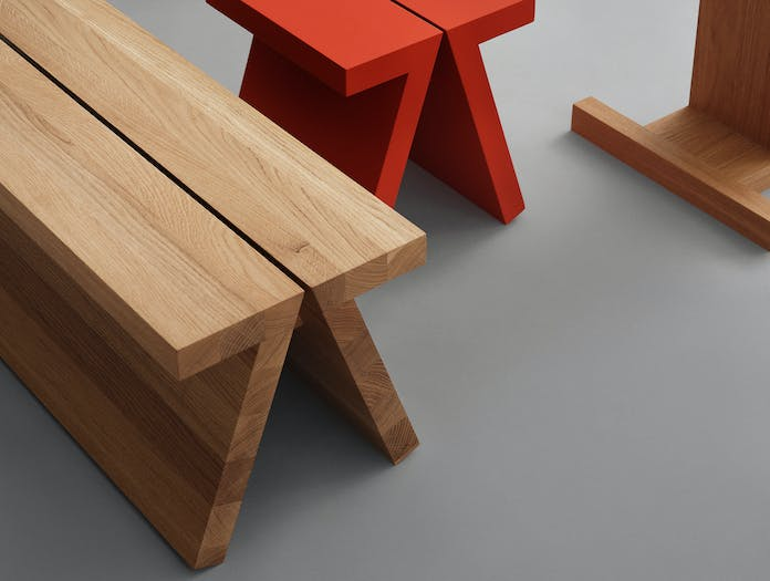 Fogia supersolid object 3 oak bench ls