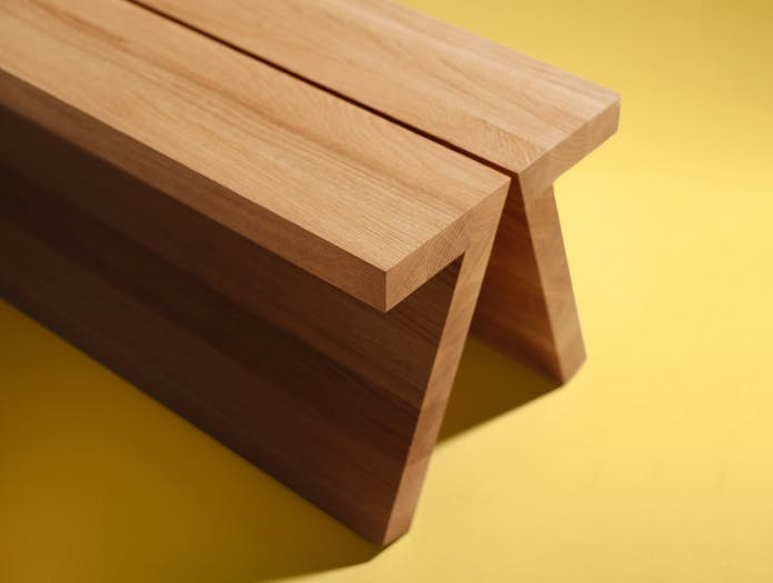 Fogia supersolid object 3 oak bench ls3