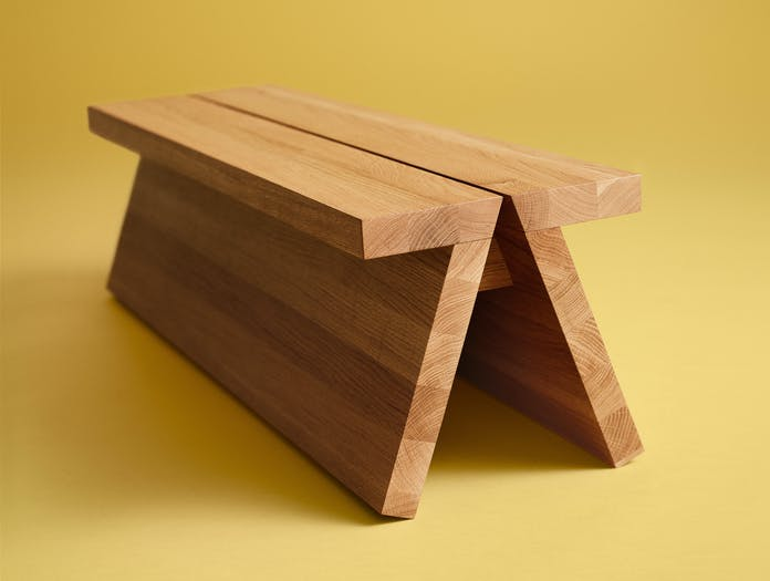 Fogia supersolid object 3 oak bench ls4