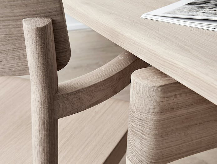 Fredericia Post Chair oak detail 2 Cecilie Manz