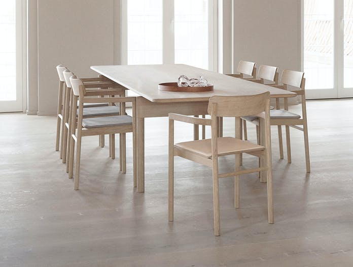 Fredericia Post Chairs oak 1 Cecilie Manz