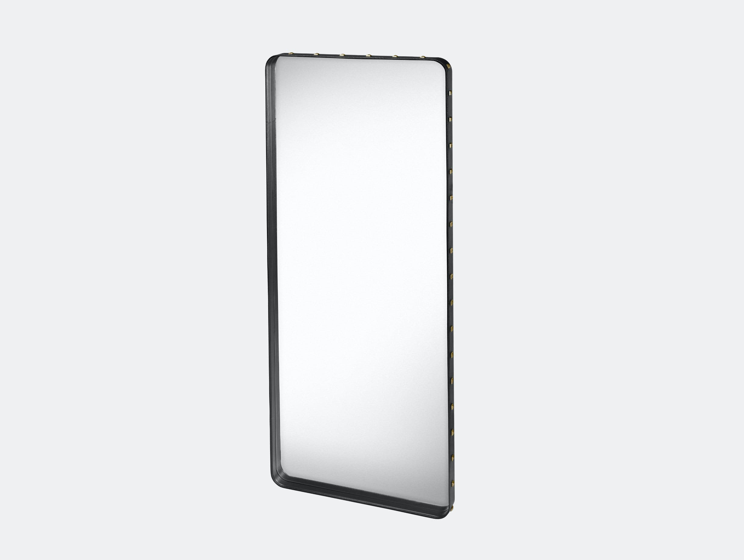 Gubi Adnet Rectangular Wall Mirror large black Jacques Adnet