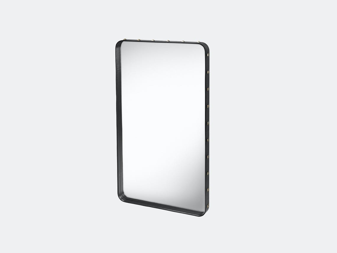Gubi Adnet Rectangular Wall Mirror medium black Jacques Adnet