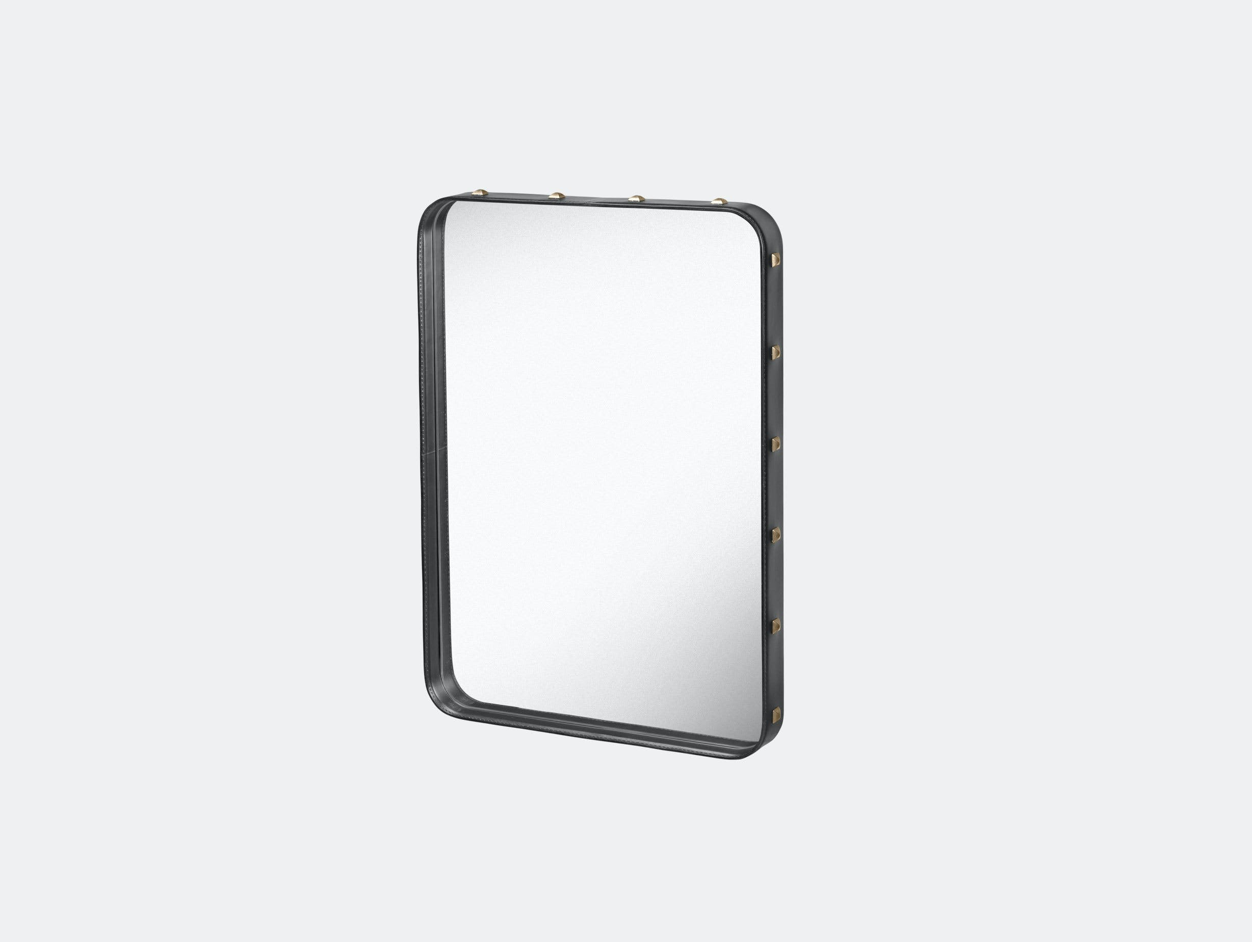Gubi Adnet Rectangular Wall Mirror small black Jacques Adnet