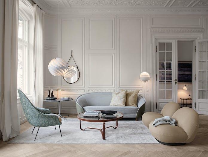 Gubi Bat Chair Adnet Circular Pacha Chair Turbo Pendant Revers Sofa