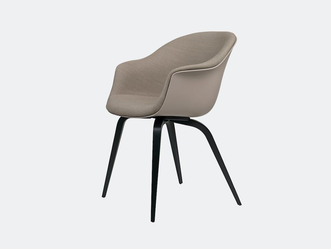 Gubi Bat Dining Chair Front Upholstered Gabriel Crisp Gam Fratesi
