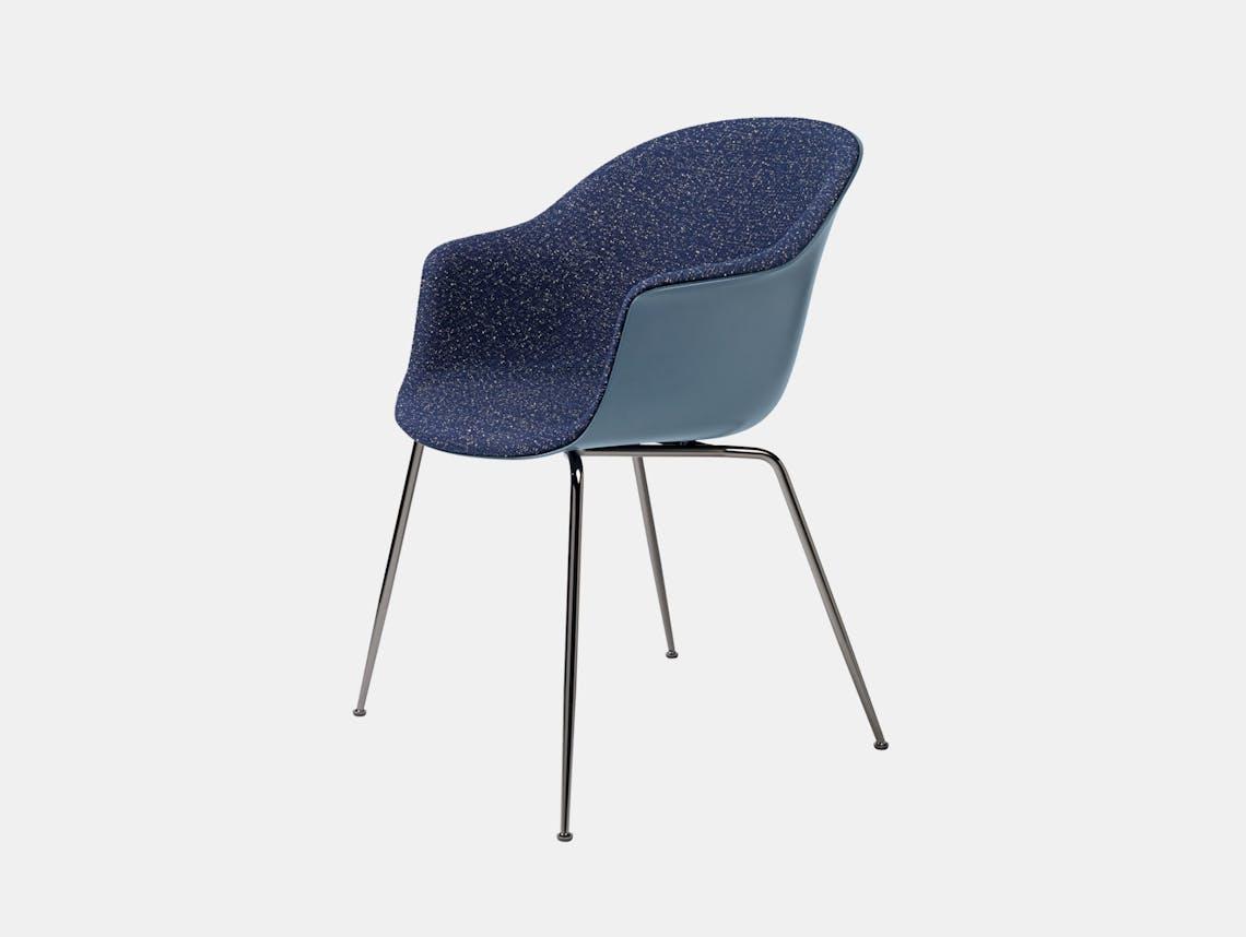 Gubi Bat Dining Chair Front Upholstered Pilot 792 Gam Fratesi