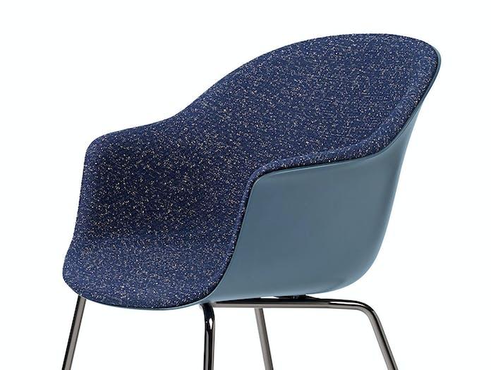 Gubi Bat Dining Chair Front Upholstered Pilot 792 detail Gam Fratesi
