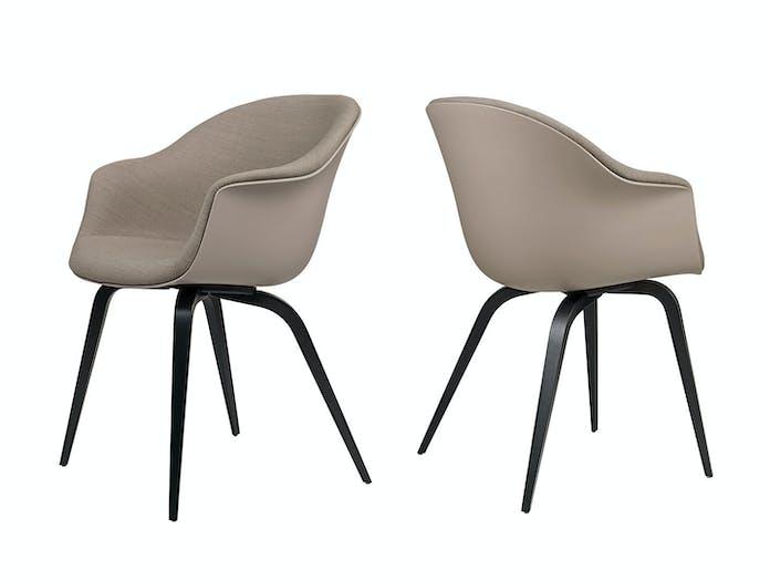 Gubi Bat Dining Chairs Front Upholstered Gabriel Crisp Gam Fratesi