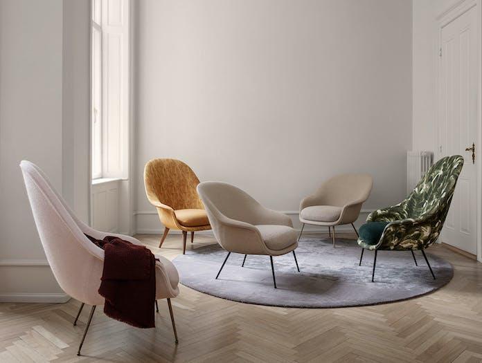 Gubi Bat Lounge Chairs Gam Fratesi