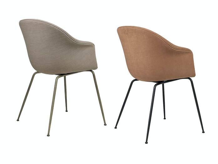 Gubi Bat Dining Chairs Conic Fully Upholstered back