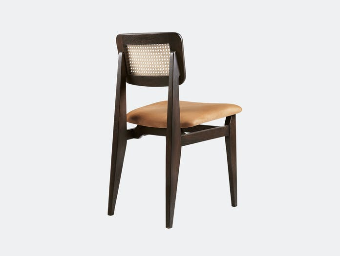 Gubi C Chair Dining Chair Brown Black Stained Oak Nubuck Seat Marcel Gascoin