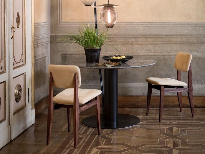 Gubi C Chair Dining Chair Upholstered Marcel Gascoin