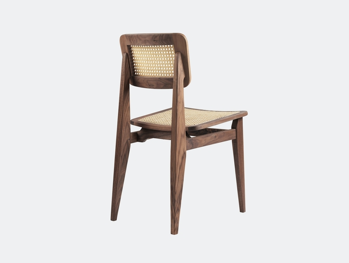 Gubi C Chair Dining Chair Walnut Cane Back Marcel Gascoin