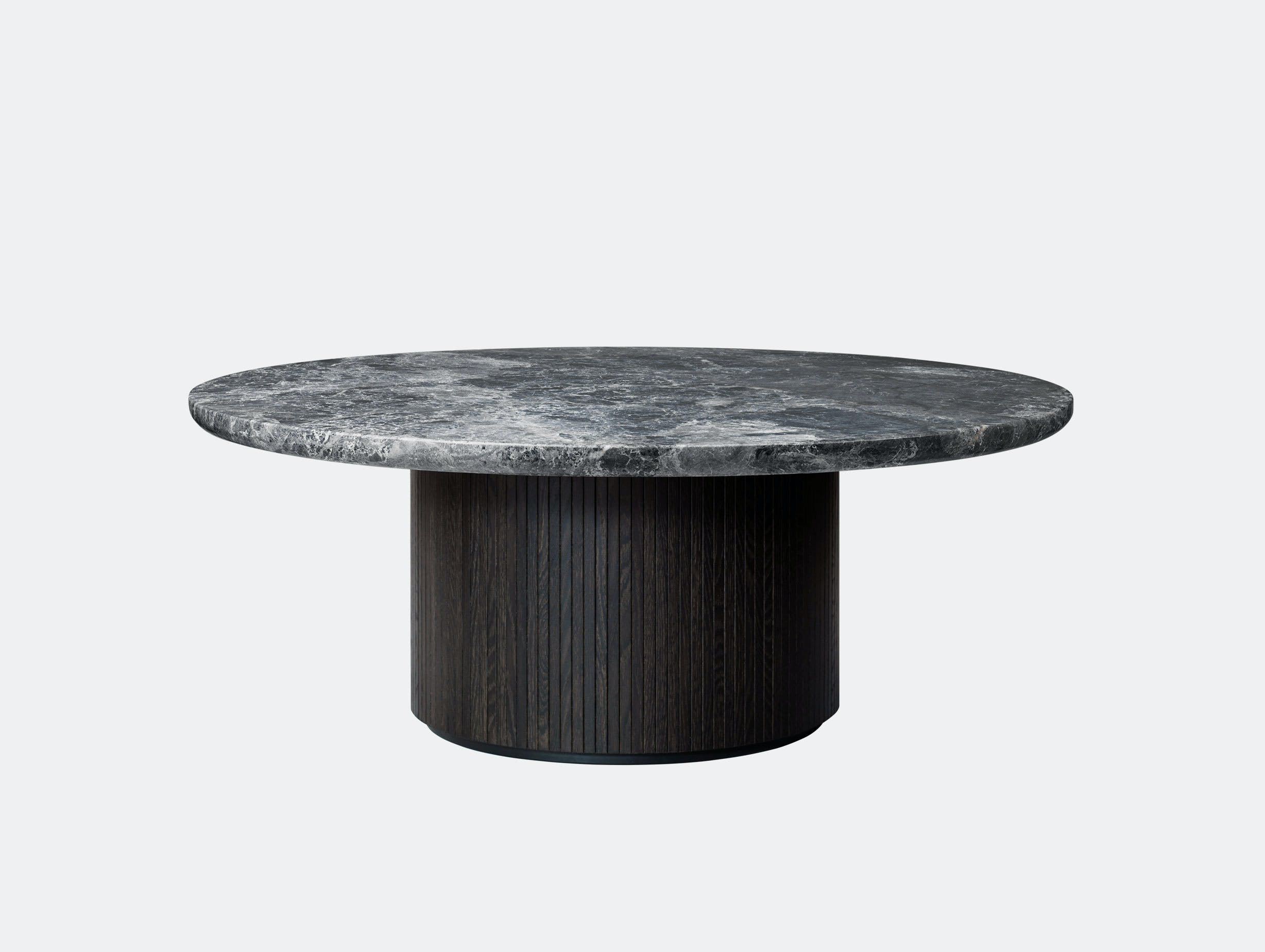 Gubi Moon Coffee Table dia 120cm Grey Emperador Marble Space Copenhagen