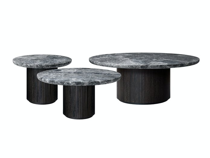 Gubi Moon Coffee Tables Grey Emperador Marble Space Copenhagen
