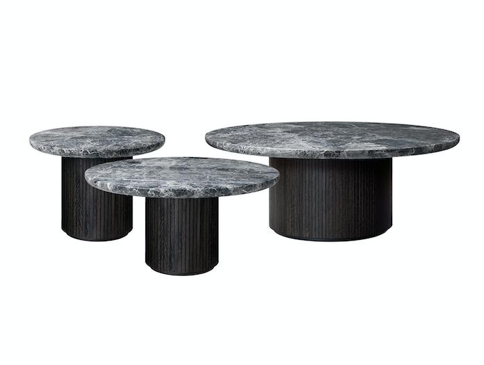 Gubi Moon Coffee Tables Grey Emperador Marble Space Copenhagen