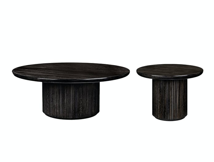 Gubi Moon Coffee Tables black st oak glossy Space Copenhagen