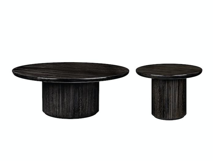 Gubi Moon Coffee Tables black st oak glossy Space Copenhagen