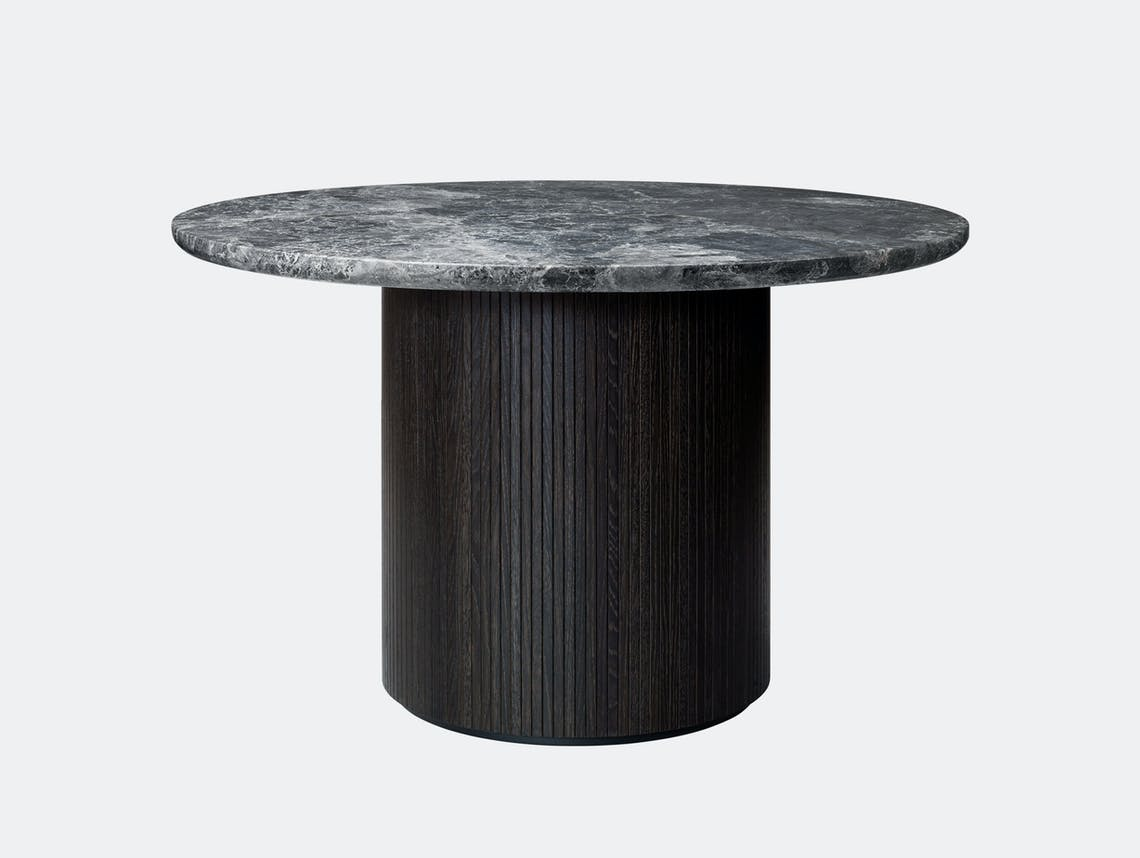 Gubi Moon Round Dining Table dia 120cm Grey Emperador Marble Space Copenhagen