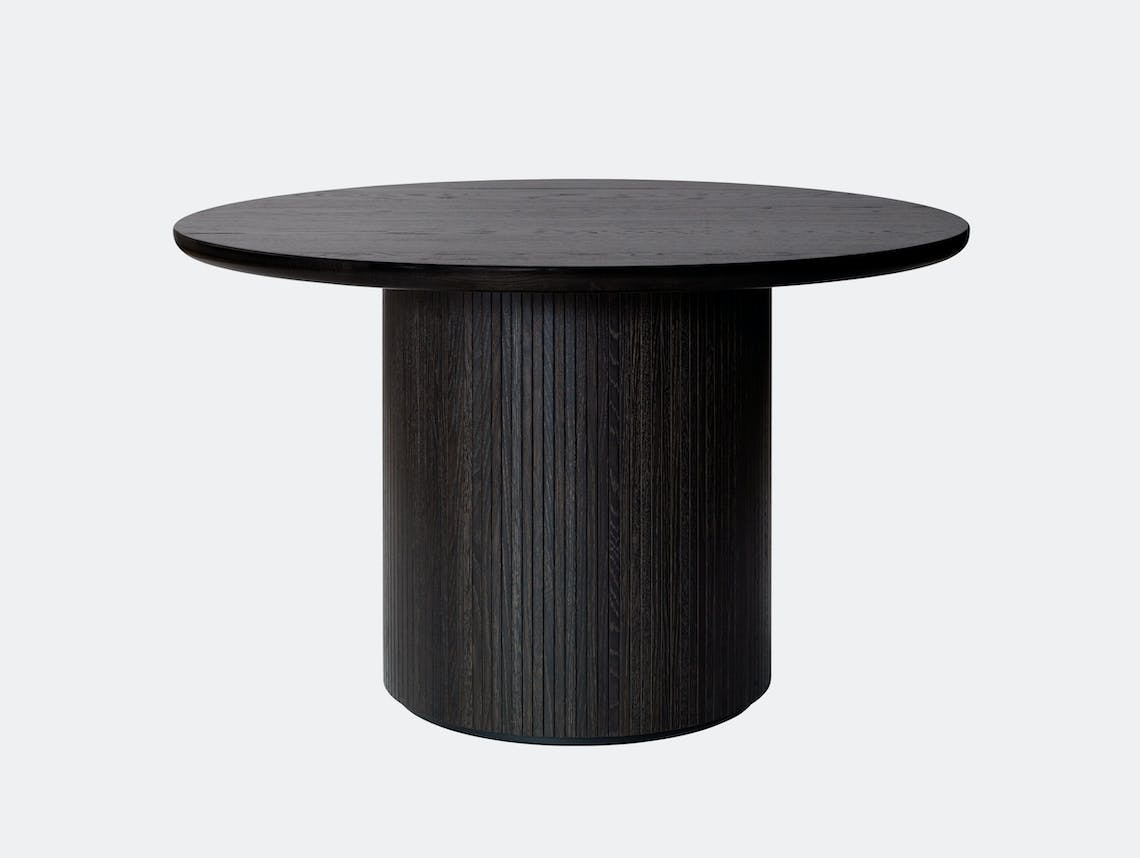 Gubi Moon Round Dining Table dia 120cm black st oak Space Copenhagen