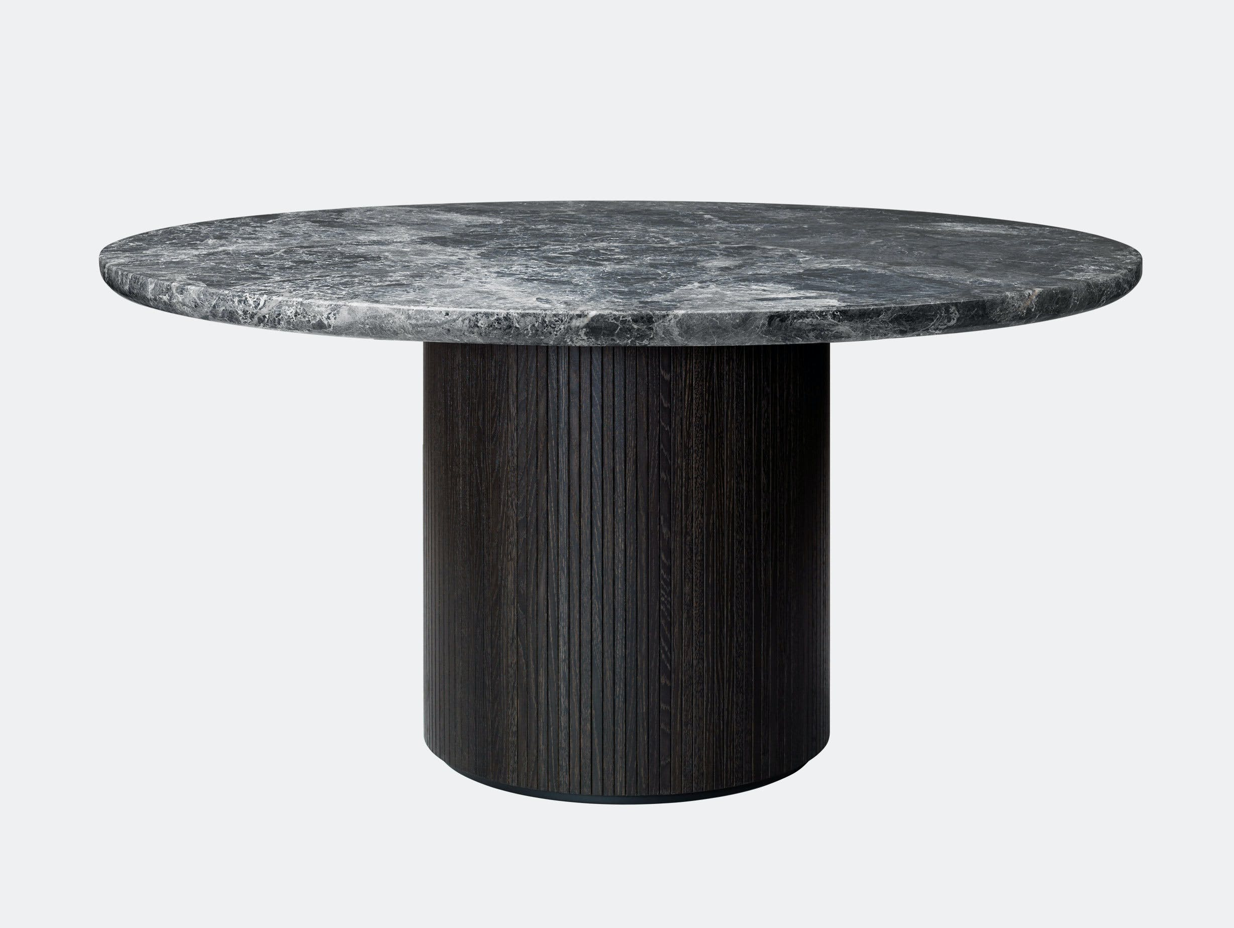 Gubi Moon Round Dining Table dia 150cm Grey Emperador Marble Space Copenhagen