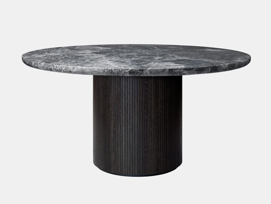 Gubi Moon Round Dining Table dia 150cm Grey Emperador Marble Space Copenhagen