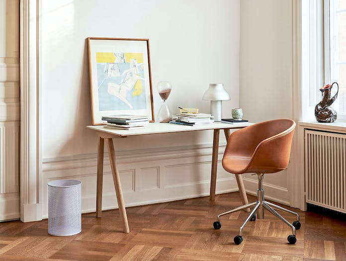 Hay AAC53 alu base leather cognac silk SIL0250 CPH90 Desk off white Perforated Bin lavender PC Table Light alu