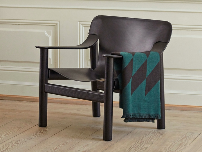 Hay Bernard Easy Chair black leather Shane Schneck