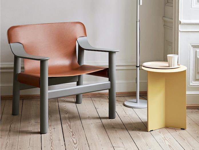 Hay Bernard Easy Chair grey br leather Shane Schneck