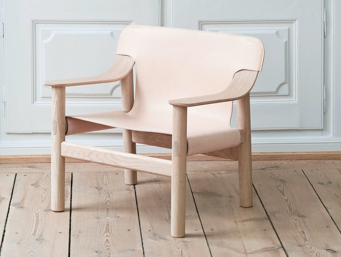 Hay Bernard Easy Chair oak natural leather 2 Shane Schneck