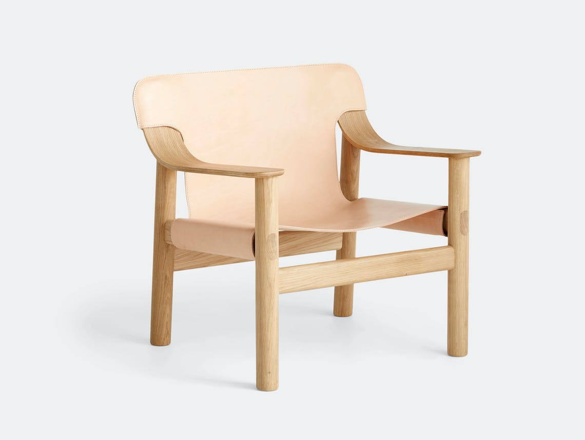 Hay Bernard Easy Chair oak natural leather Shane Schneck