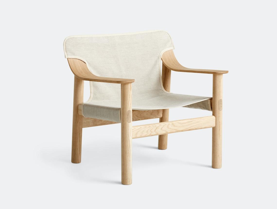 Hay Bernard Easy Chair oak raw canvas Shane Schneck