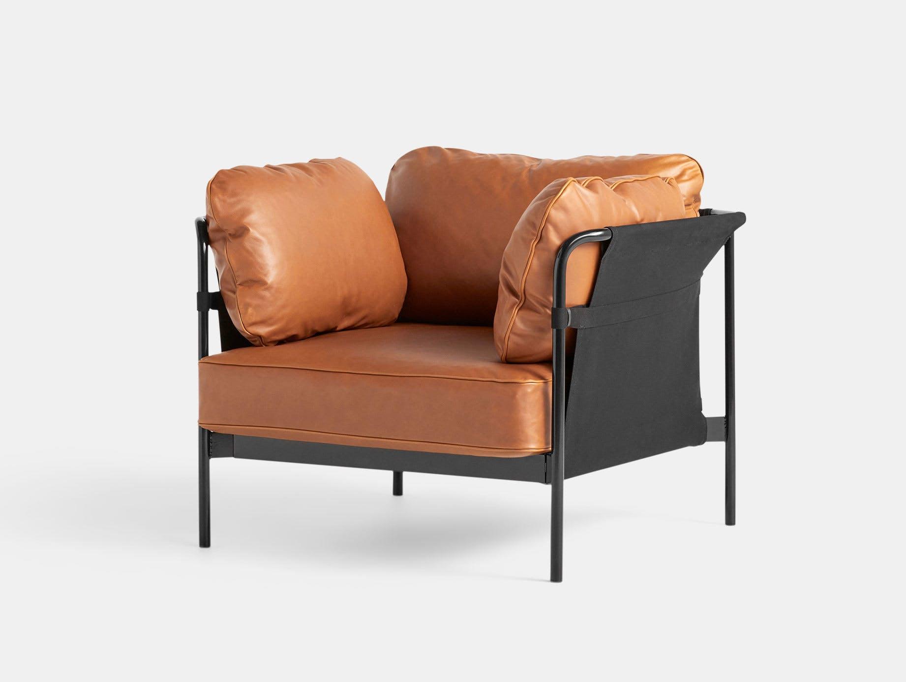 Hay Can Armchair Cognac Leather Ronan Erwan Bouroullec