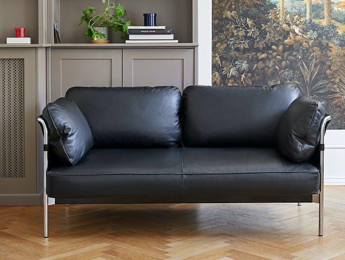 Hay Can Sofa 2 seater leather chrome Ronan Erwan Bouroullec