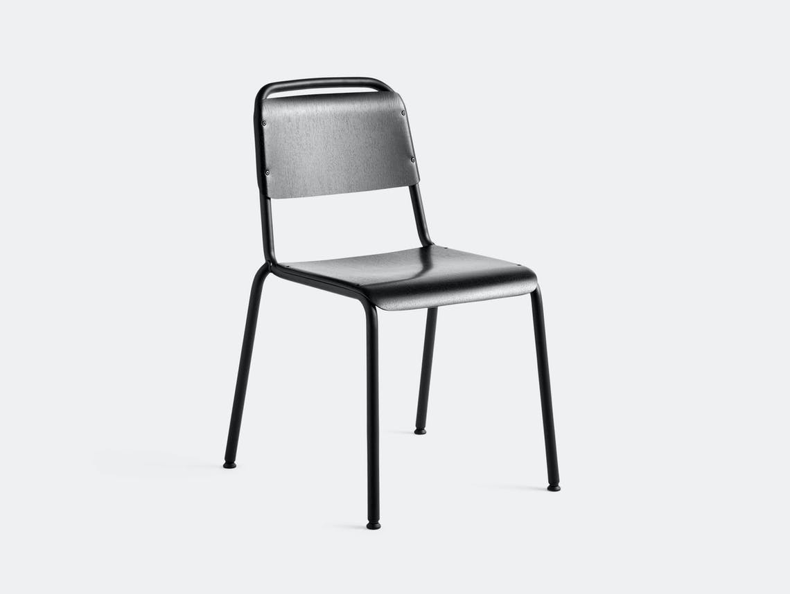 Hay Halftime Chair black frame black oak seat COBE Studio