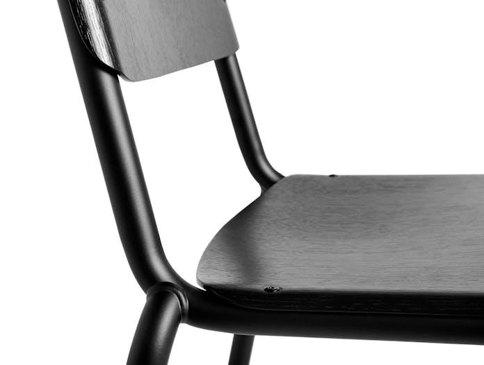 Hay Halftime Chair black frame black oak seat detail 2 COBE Studio