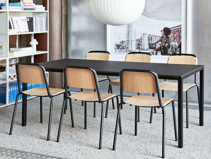 Hay Halftime Chair black frame natural oak seat 2 COBE Studio