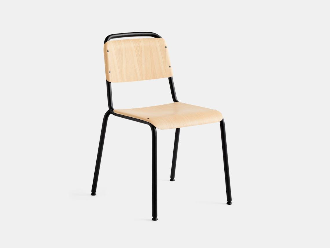 Hay Halftime Chair black frame natural oak seat COBE Studio