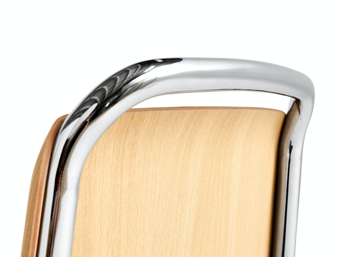 Hay Halftime Chair chromed frame natural oak seat detail 1 COBE Studio