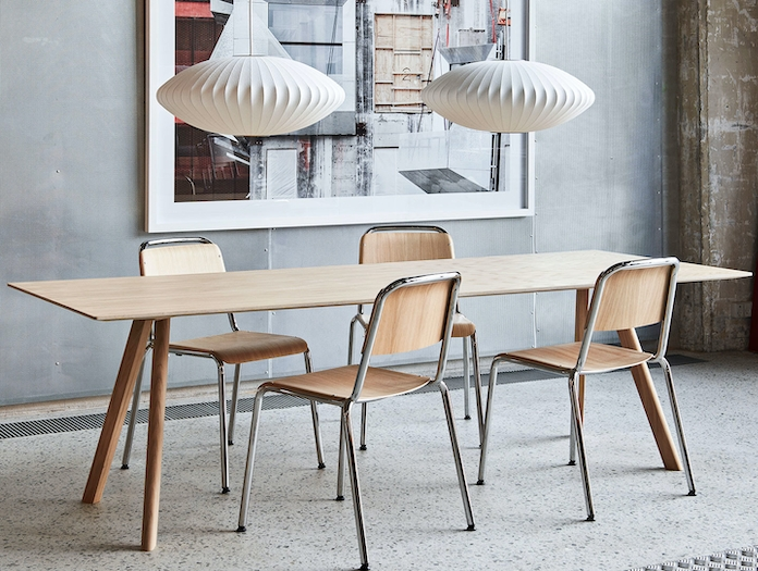 Hay Halftime chairs CPH30 Bubble Lamp Saucer M