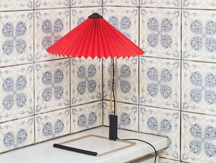 Hay Matin Table Lamp Bright Red Inga Sempe