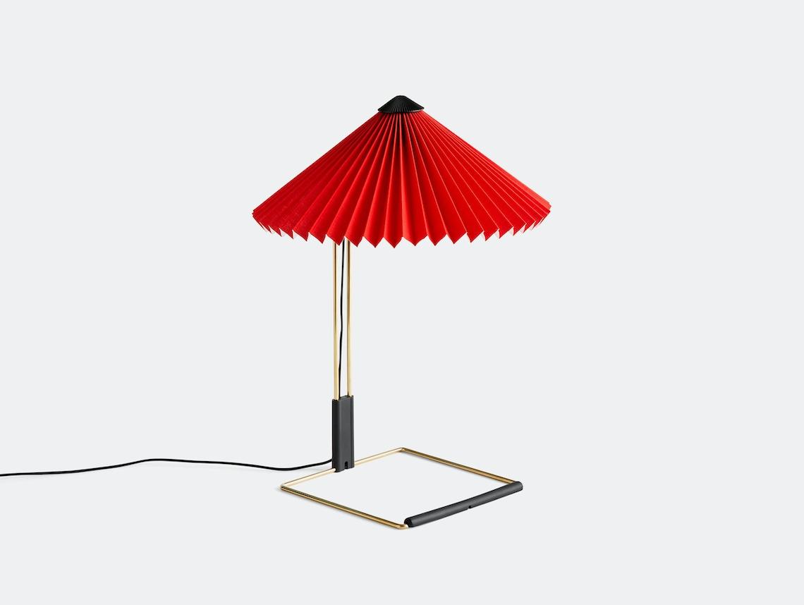 Hay Matin Table Lamp S Bright Red Inga Sempe