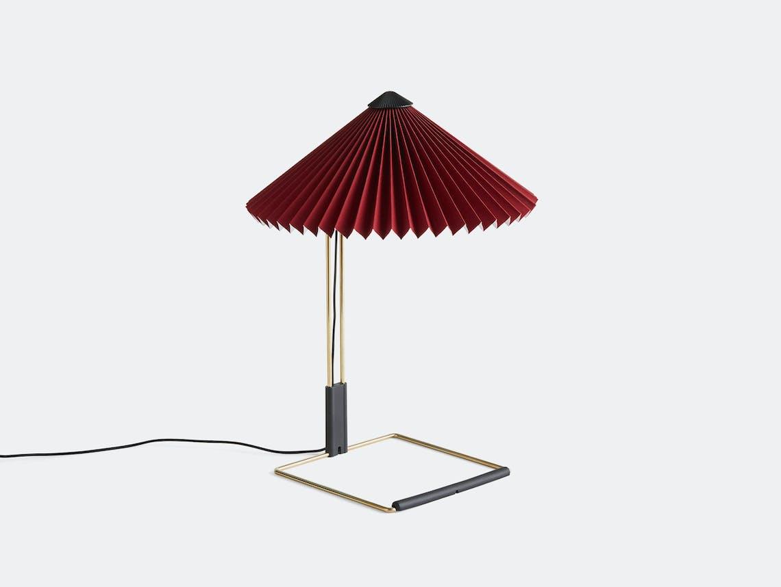 Hay Matin Table Lamp S Oxide Red Inga Sempe