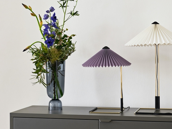 Hay Matin Table Lamps S lavender L white