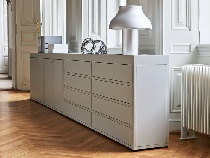 Hay New Order Shelving System light grey PC Table Lamp aluminum