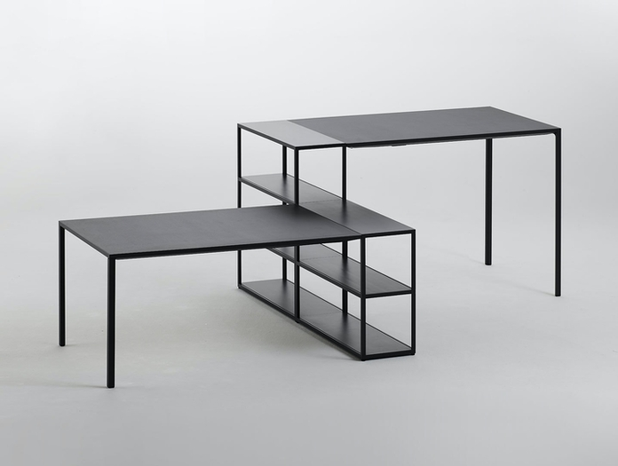 Hay New Order Table Charcoal New Order Shelving System Charcoal