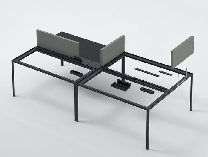 Hay New Order Table Charcoal New Order Table Screens Steel Cut Trio