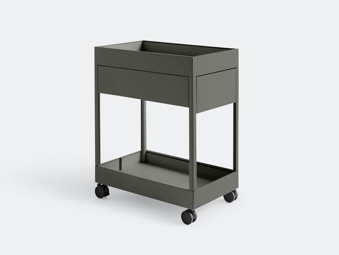 Hay New Order trolley A 1 drawer Army green Stefan Diez